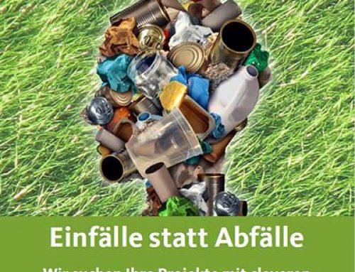 """Städtischer Umweltpreis 2017 """"Einfälle statt Abfälle"""" gestartet"""